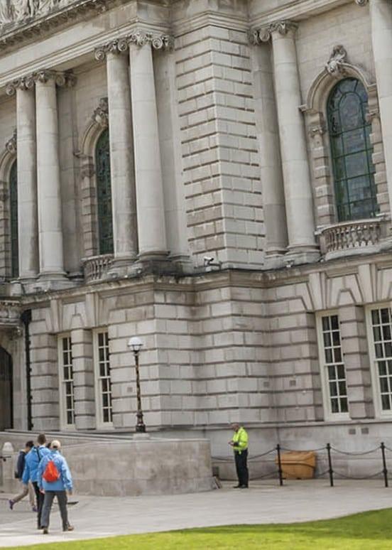 corner of belfast city hall