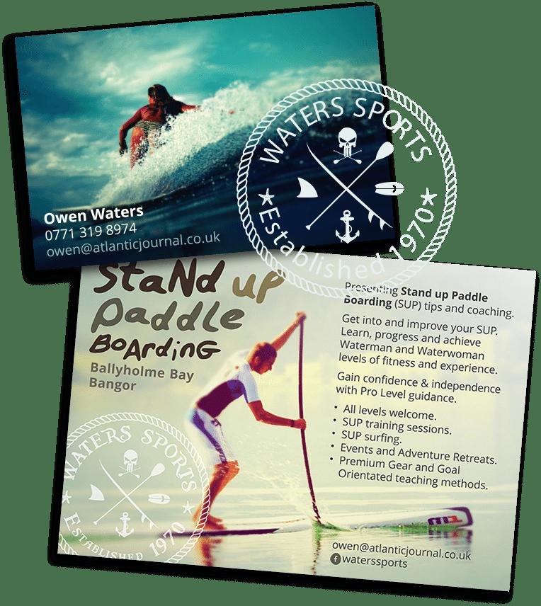 sports website design postcards