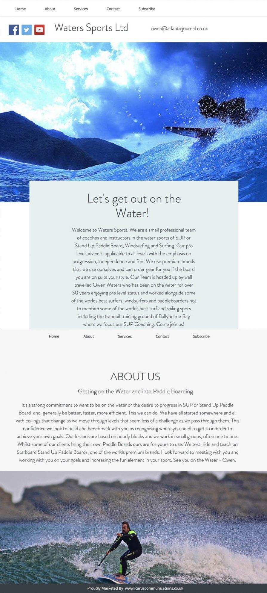 sports website design layout